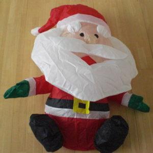 Opblaasbare kerstman 80 cm op batterijen-0