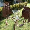 2 metalen vogels regenmeter-408