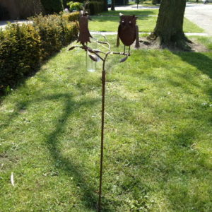 2 metalen vogels regenmeter-410