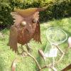 2 metalen vogels regenmeter-411