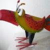 3 verschillende meer kleurige metalen vogels-299