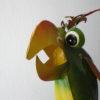 3 verschillende meer kleurige metalen vogels-307