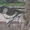 diverse metalen vogels voor in boom of op stang-486