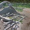 diverse metalen vogels voor in boom of op stang-489