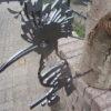 diverse metalen vogels voor in boom of op stang-487